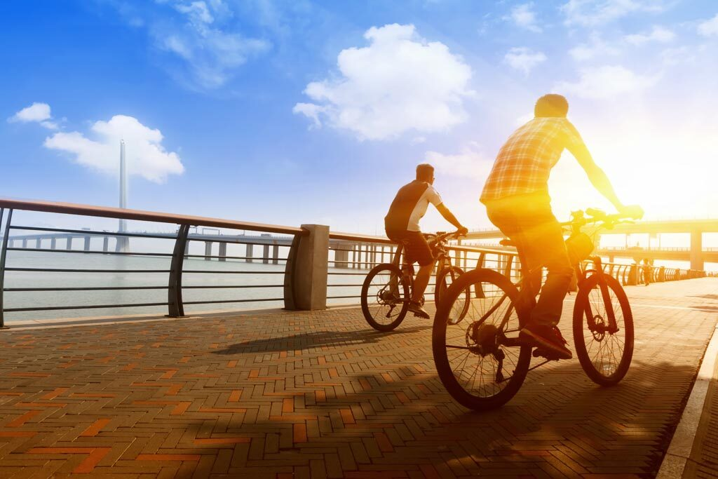 Getting fresh air and exercise relieves physical stress